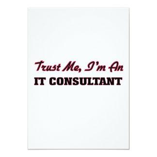 """Confíe en que yo es él consultor invitación 5"""" x 7"""""""