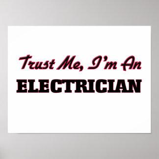 Confíe en que yo es electricista póster