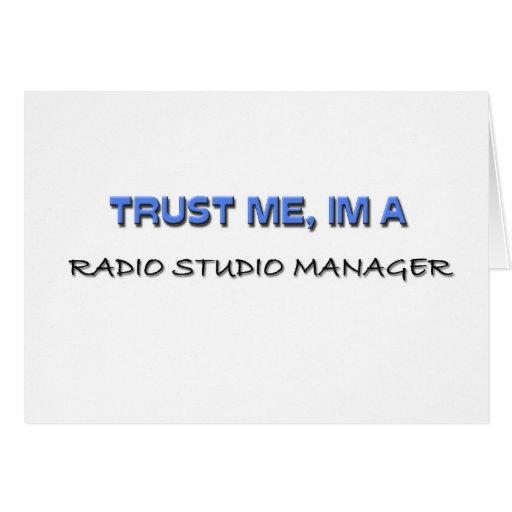 Confíe en que yo es encargado de radio del estudio felicitaciones
