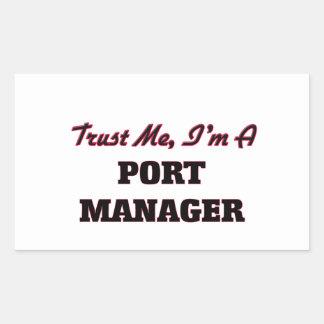 Confíe en que yo es encargado del puerto rectangular pegatinas
