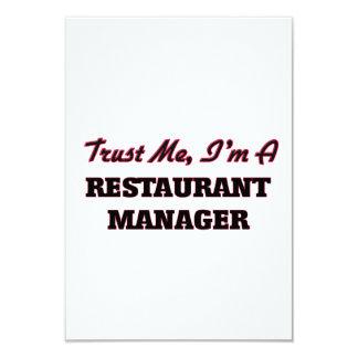 Confíe en que yo es encargado del restaurante invitación 8,9 x 12,7 cm