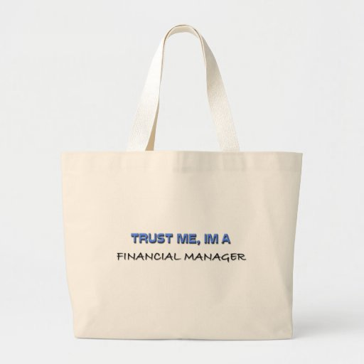 Confíe en que yo es encargado financiero bolsas lienzo