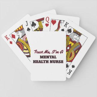 Confíe en que yo es enfermera de salud mental cartas de póquer
