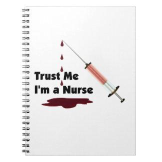 Confíe en que yo es enfermera spiral notebook