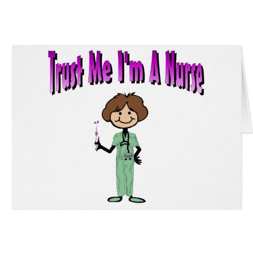 Confíe en que yo es enfermera tarjeta