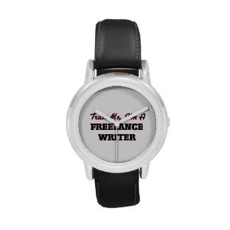 Confíe en que yo es escritor free lance reloj