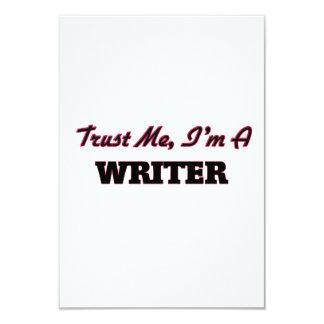 Confíe en que yo es escritor invitación 8,9 x 12,7 cm