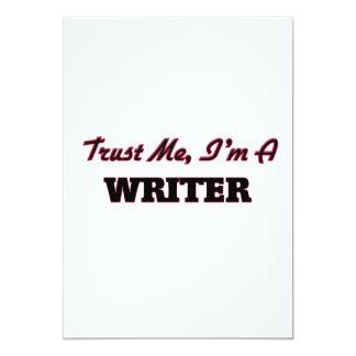 Confíe en que yo es escritor invitación 12,7 x 17,8 cm