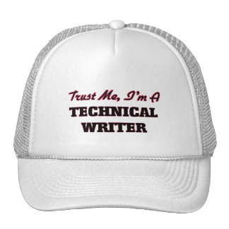 Confíe en que yo es escritor técnico gorras