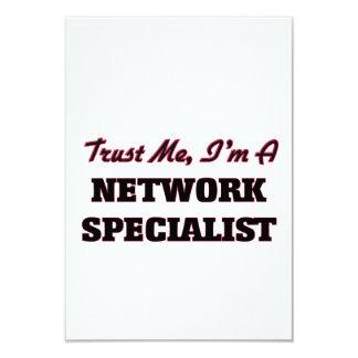 """Confíe en que yo es especialista de la red invitación 3.5"""" x 5"""""""