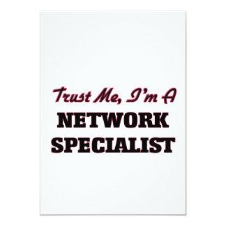 """Confíe en que yo es especialista de la red invitación 5"""" x 7"""""""