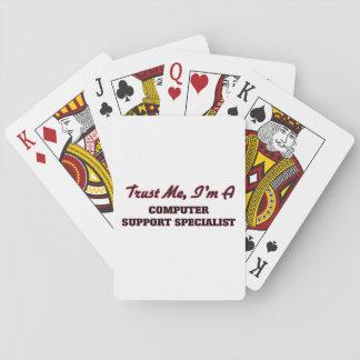 Confíe en que yo es especialista del soporte cartas de póquer