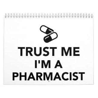 Confíe en que yo es farmacéutico calendarios