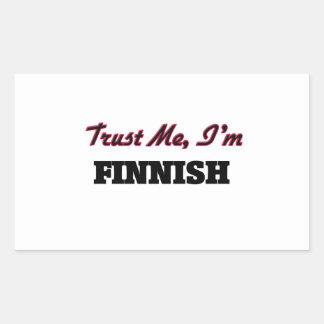 Confíe en que yo es finlandés rectangular altavoces