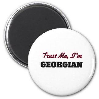 Confíe en que yo es georgiano imán para frigorífico