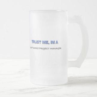 Confíe en que yo es gestor de proyecto del softwar taza de café