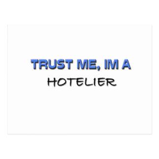 Confíe en que yo es hotelero postal