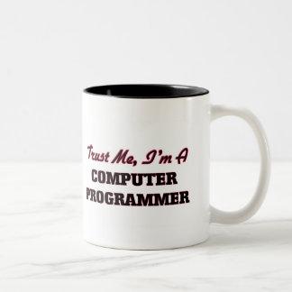 Confíe en que yo es informático tazas de café
