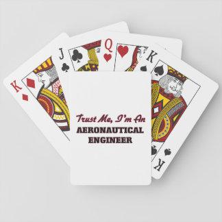 Confíe en que yo es ingeniero aeronáutico baraja de póquer