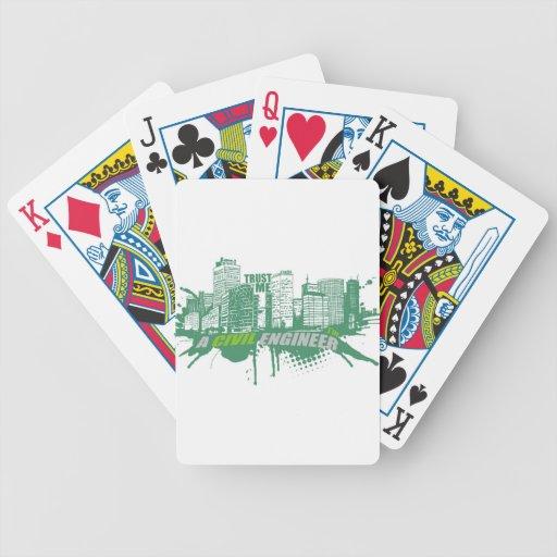Confíe en que yo es ingeniero civil 2 baraja cartas de poker