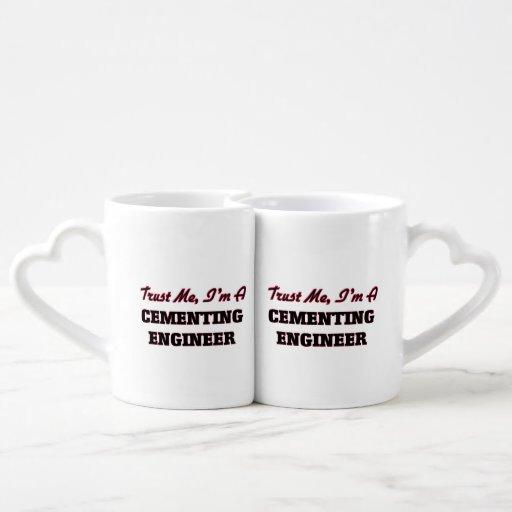 Confíe en que yo es ingeniero de cementación tazas para parejas