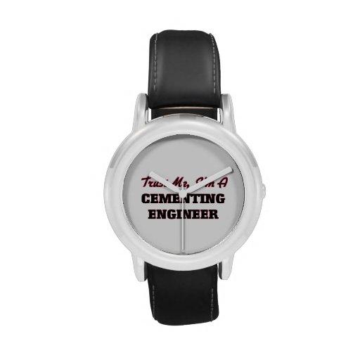 Confíe en que yo es ingeniero de cementación reloj