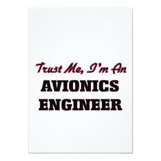 Confíe en que yo es ingeniero de la aviónica invitacion personalizada
