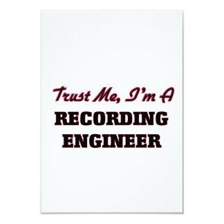 Confíe en que yo es ingeniero de la grabación invitación 8,9 x 12,7 cm