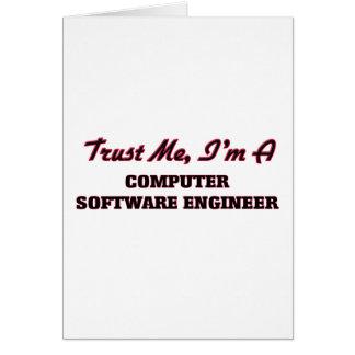 Confíe en que yo es ingeniero de los programas tarjeta de felicitación