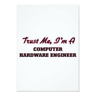 Confíe en que yo es ingeniero del hardware invitación 12,7 x 17,8 cm