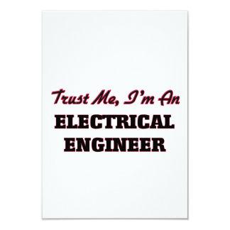 """Confíe en que yo es ingeniero eléctrico invitación 3.5"""" x 5"""""""