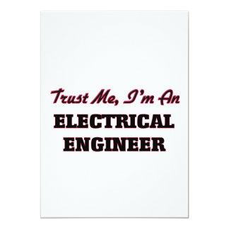 """Confíe en que yo es ingeniero eléctrico invitación 5"""" x 7"""""""