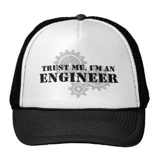 Confíe en que yo es ingeniero gorras de camionero
