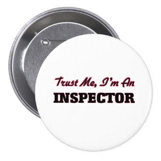 Confíe en que yo es inspector pin redondo de 3 pulgadas