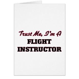 Confíe en que yo es instructor del vuelo tarjeton
