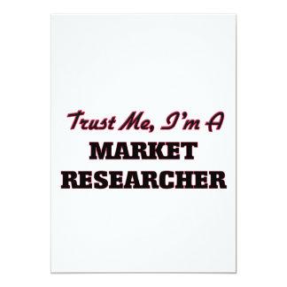 """Confíe en que yo es investigador de mercado invitación 5"""" x 7"""""""