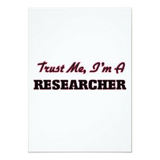 """Confíe en que yo es investigador invitación 5"""" x 7"""""""