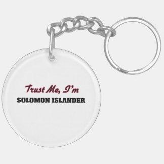 Confíe en que yo es isleño de Solomon Llaveros