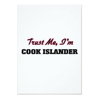 """Confíe en que yo es isleño del cocinero invitación 5"""" x 7"""""""