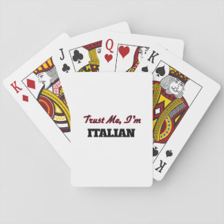 Confíe en que yo es italiano barajas de cartas