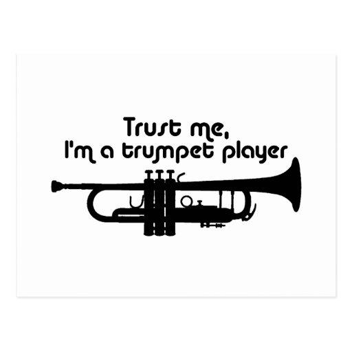 Confíe en que yo es jugador de trompeta postal