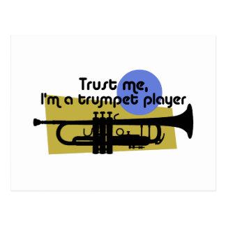 Confíe en que yo es jugador de trompeta tarjetas postales