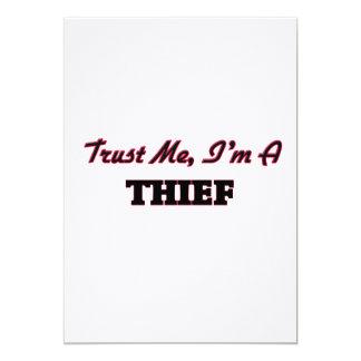 Confíe en que yo es ladrón anuncio personalizado