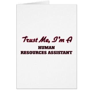 Confíe en que yo es los recursos humanos tarjetas