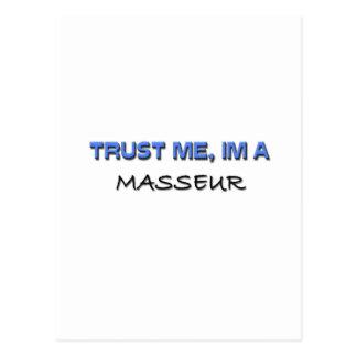 Confíe en que yo es masajista tarjetas postales