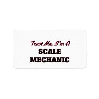 Confíe en que yo es mecánico de la escala etiquetas de dirección