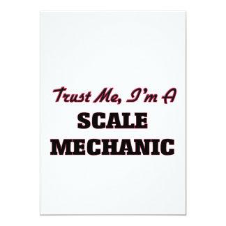 Confíe en que yo es mecánico de la escala invitación 12,7 x 17,8 cm