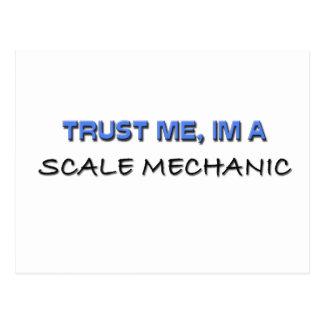 Confíe en que yo es mecánico de la escala postal