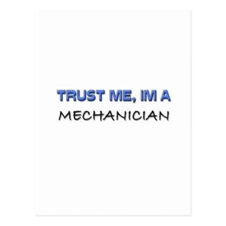 Confíe en que yo es mecánico tarjeta postal