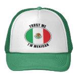 Confíe en que yo es mexicano gorro de camionero
